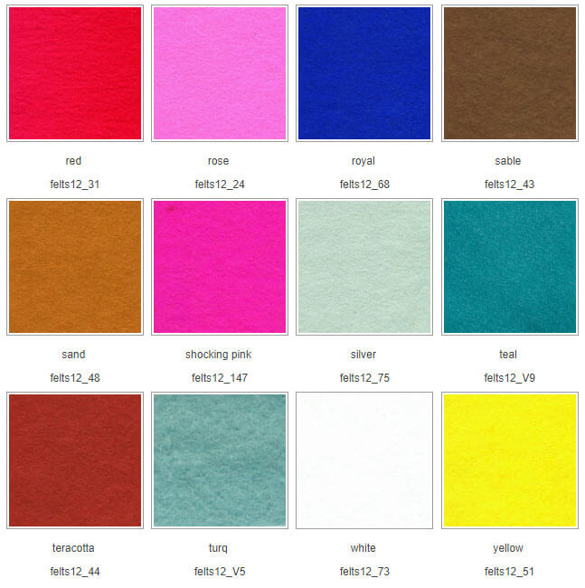 Wool Felt sold per Metre 30/%wool 70/% viscose 92cm wide red white black blue....