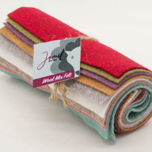 Dry Coloured Wool Mix Felt Pack