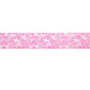Pink Happy Hearts Ribbon