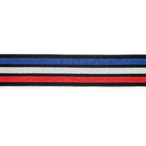 Blue White Red Three Striped Elastic