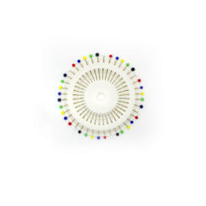 Bundle of Glass Head Rosette Pins