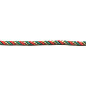 Red/Green/Gold Twisted Cord