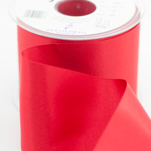 Berisfords Double Satin Red Ribbon