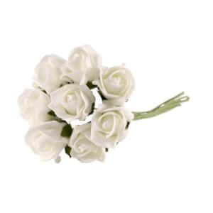 Bundle of Bright White Foam Roses