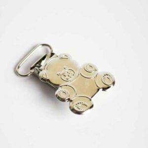 Silver Bear Clip