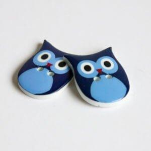 Blue Owl Buttons