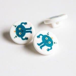 Blue Monster Buttons
