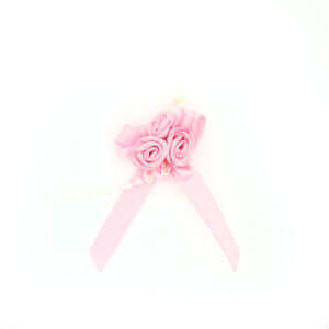 Solid Pink Rose Clusters Ribbon