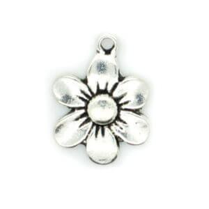 Silver Flower Charm